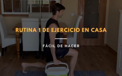 Rutina de ejercicio en casa fácil de hacer